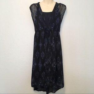 Merona Navy Blue A Line Dress with Slip